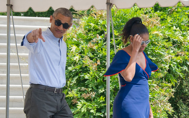 Barack and Michelle Obama are living it up on vacation.