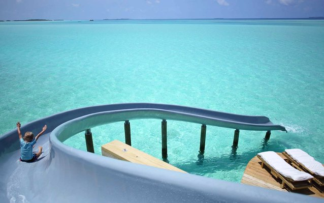Waterslide into the sea
