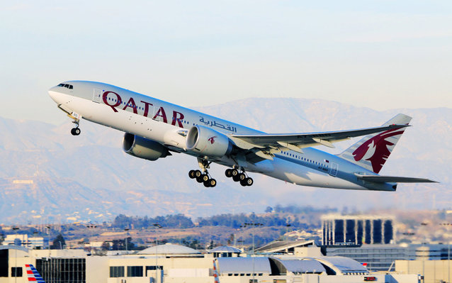 Qatar Airways begins the world's longest flight.