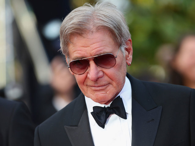 Harrison Ford flew close to another plane.