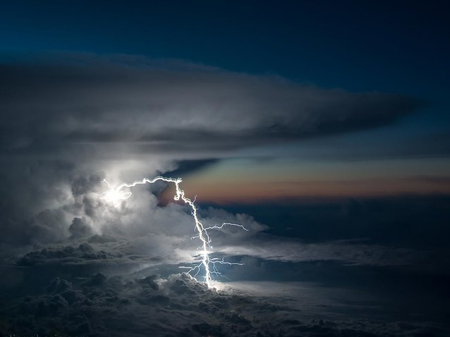 Lightning bolt over Ecuador
