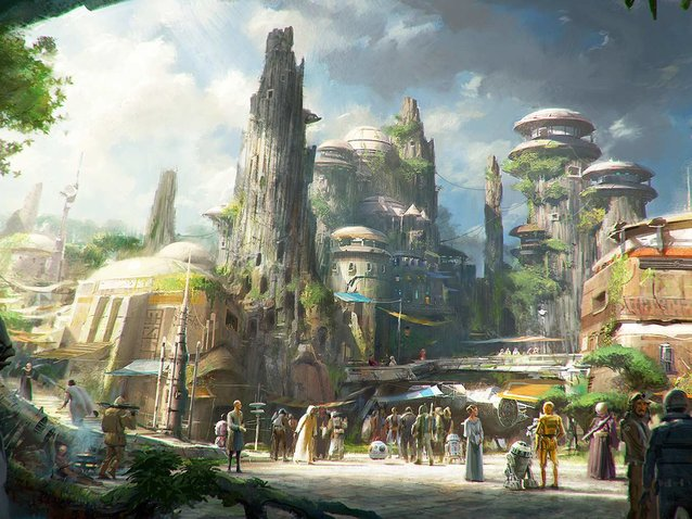 Disney Star Wars Land Construction