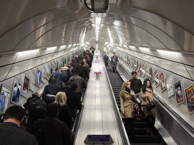 Standing is Faster Than Walking on an Escalator