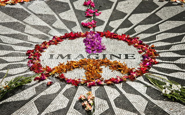 Imagine sign in Central Park