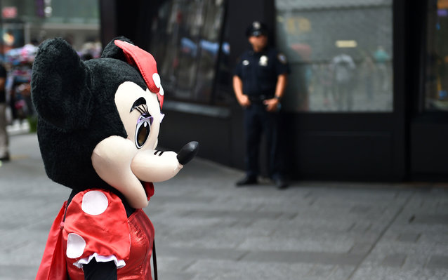 Minnie Mouse in Times Sqaure