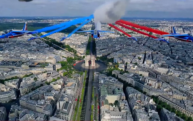 Jets over Paris