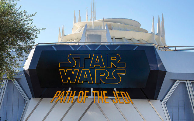 Path of the Jedi Star Wars attraction at Disneyland