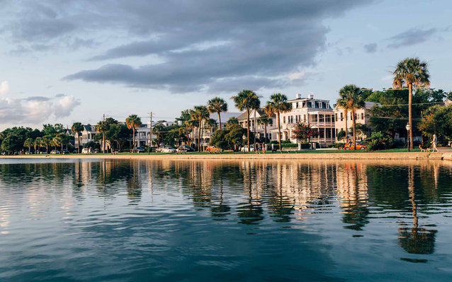 homes on the water in Charleston, South Carolina