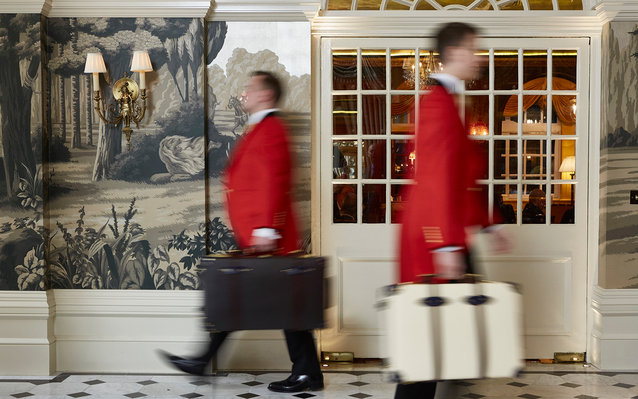 bellhops at The Goring London, London, England
