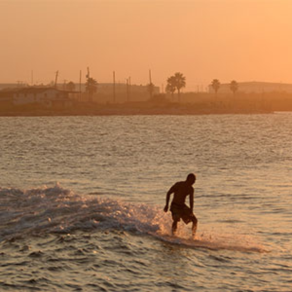 Riding Waves in Surfside, Texas