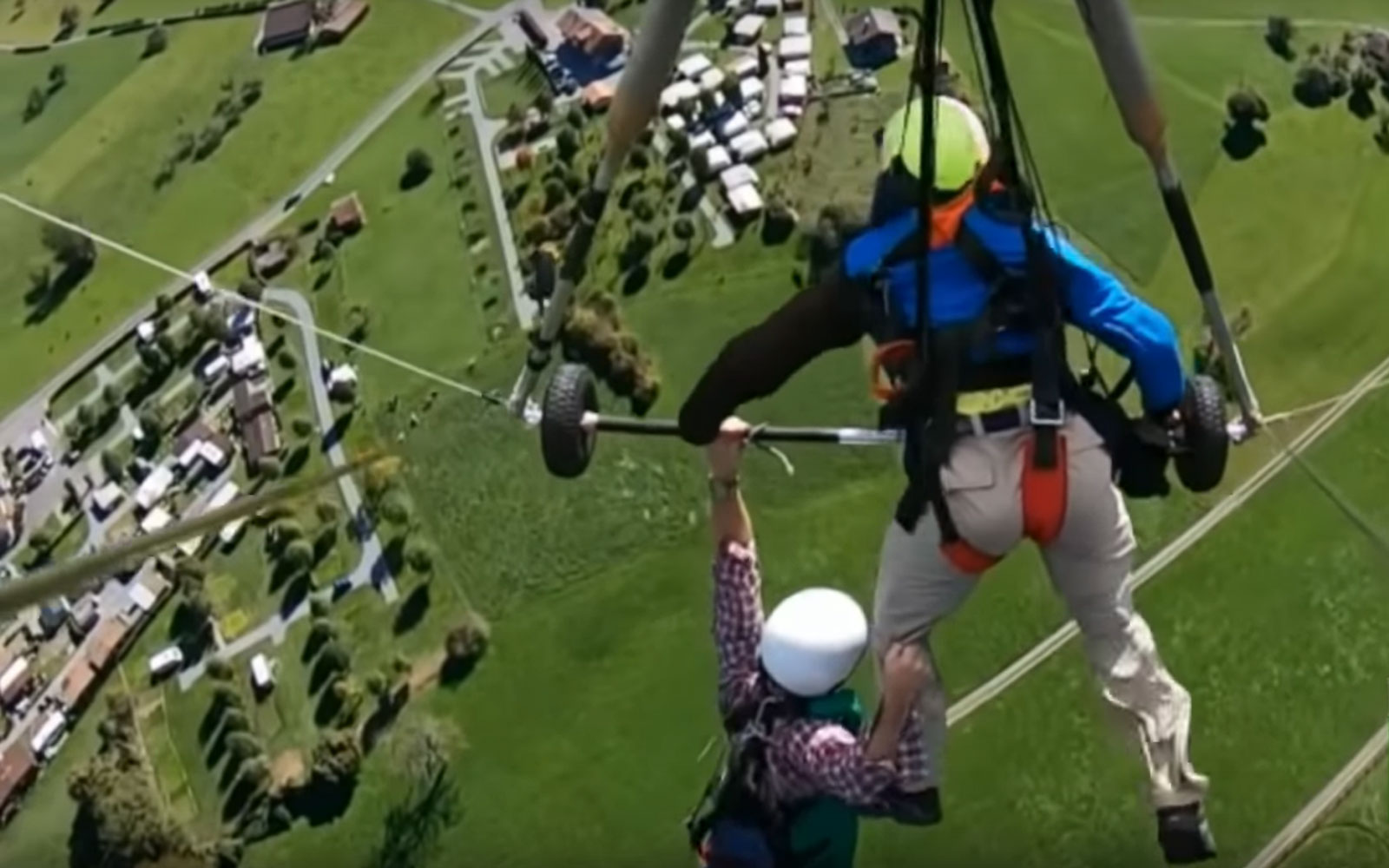 Watch This Hang Glider Hang on for Dear Life after Instructor