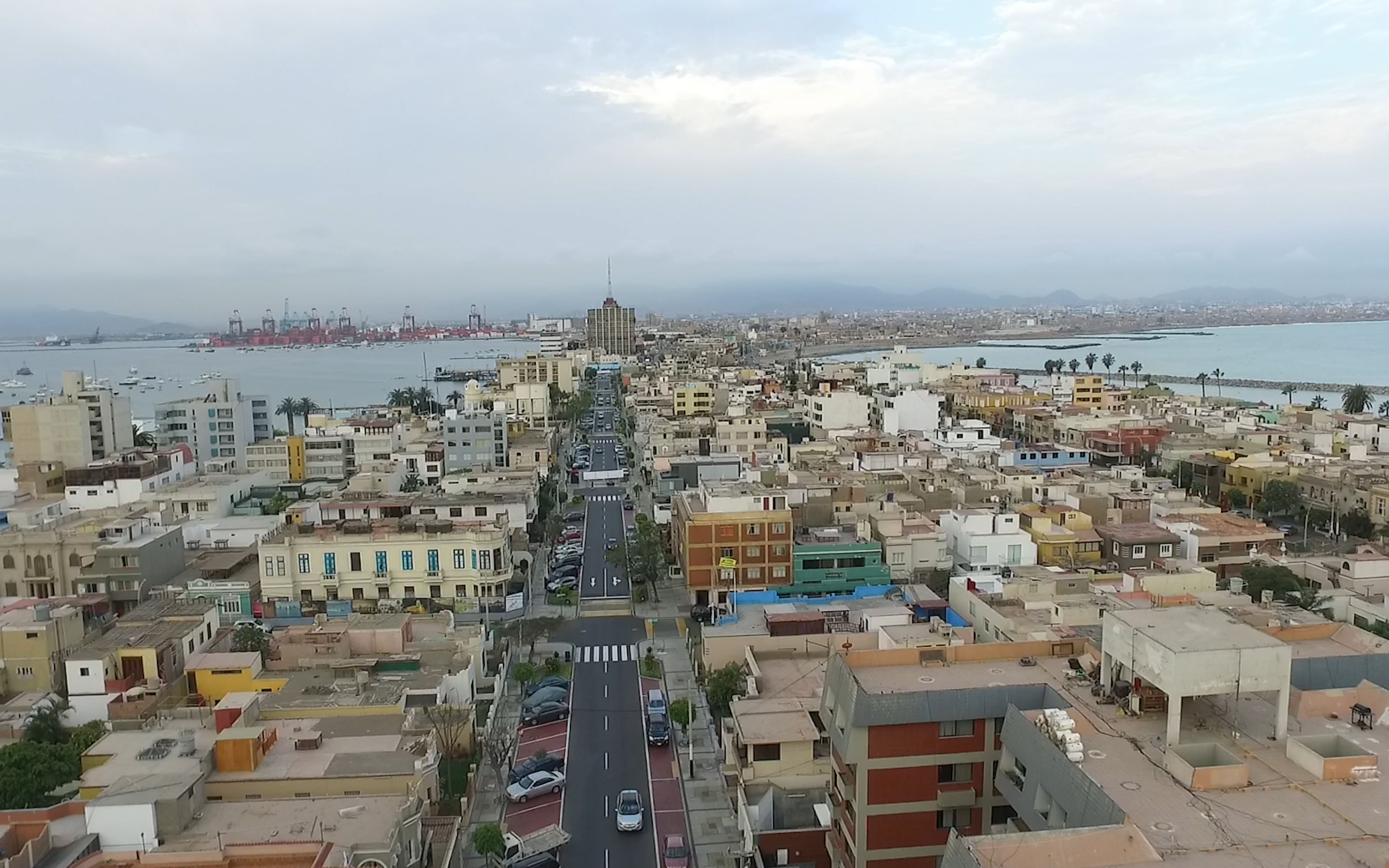 video take a two minute drone tour of lima