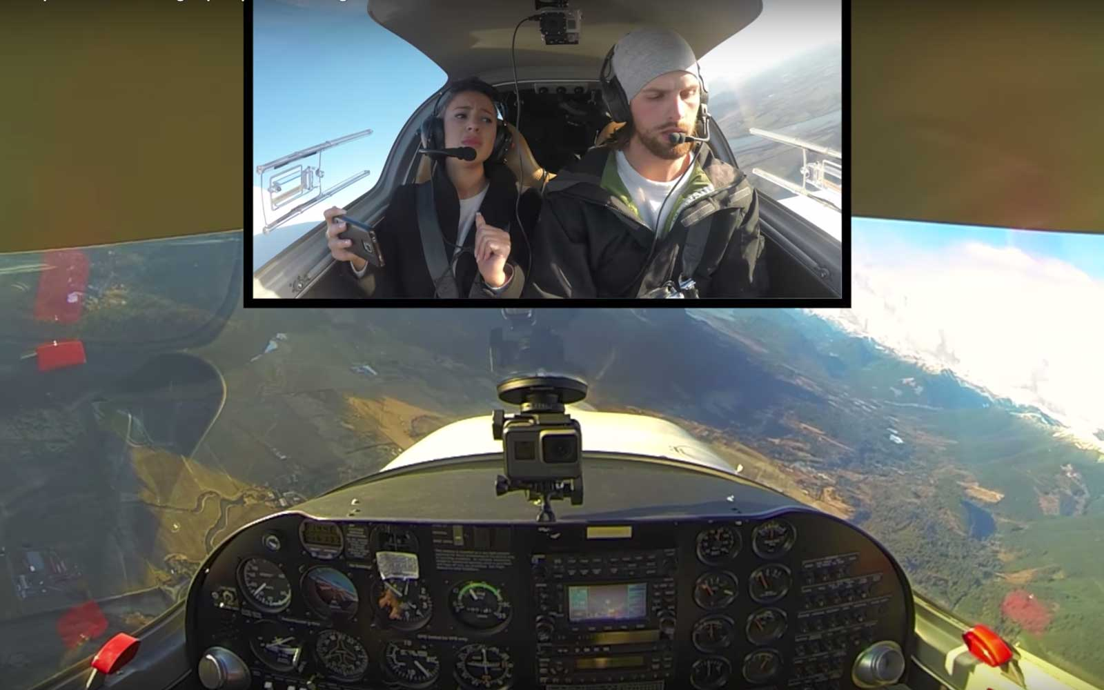 Amateur Pilot Fakes a Plane Crash During Terrifying Proposal